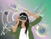 student work: vector portrait