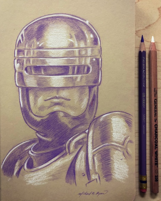 Robocop - color pencil