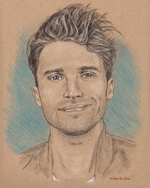 Portrait Drawing: TV star Tom Schwartz (Bravo, Vanderpump Rules)